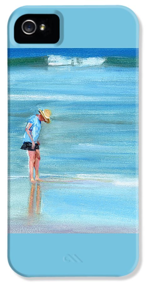 Beach IPhone 5 / 5s Case featuring the painting Rcnpaintings.com by Chris N Rohrbach
