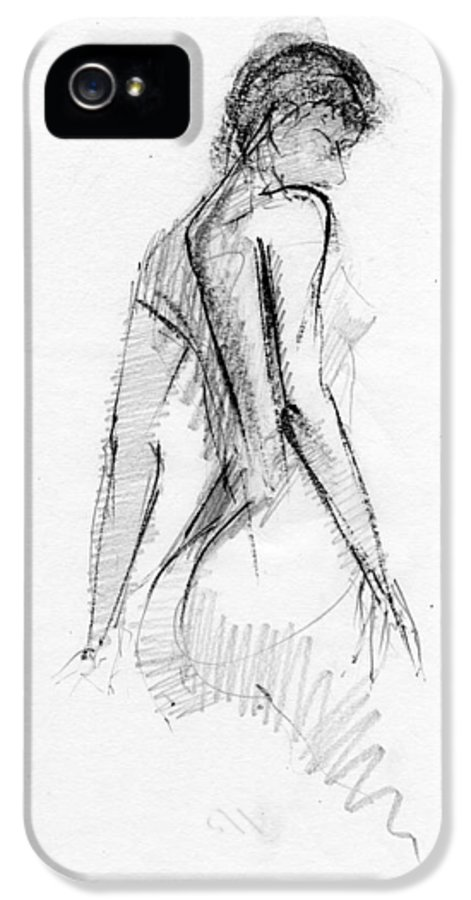 Figure IPhone 5 / 5s Case featuring the drawing Rcnpaintings.com by Chris N Rohrbach