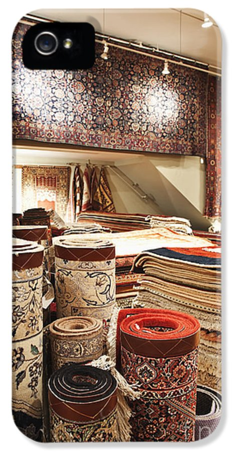 Architecture IPhone 5 / 5s Case featuring the photograph Area Rugs In A Store by Jetta Productions, Inc