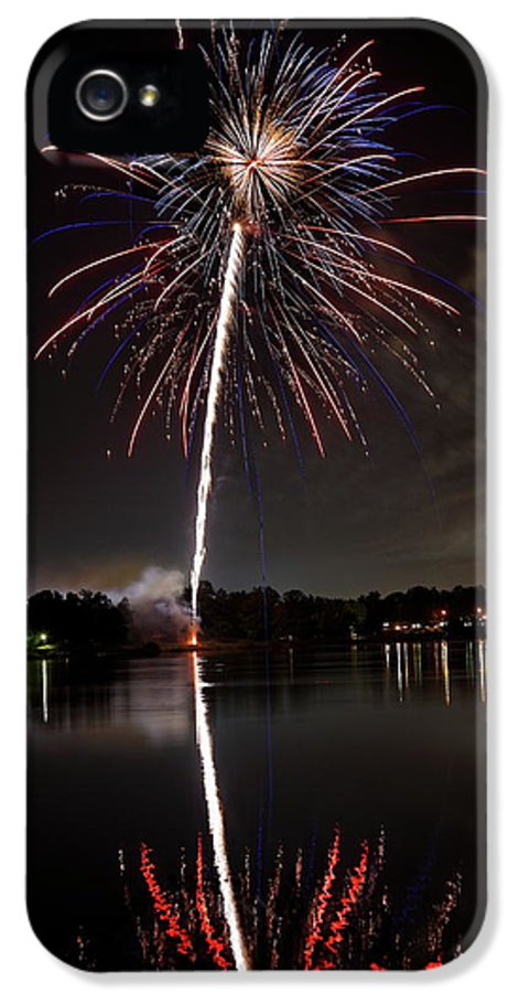 Fireworks IPhone 5 / 5s Case featuring the photograph 4th Of July by Lone Dakota Photography