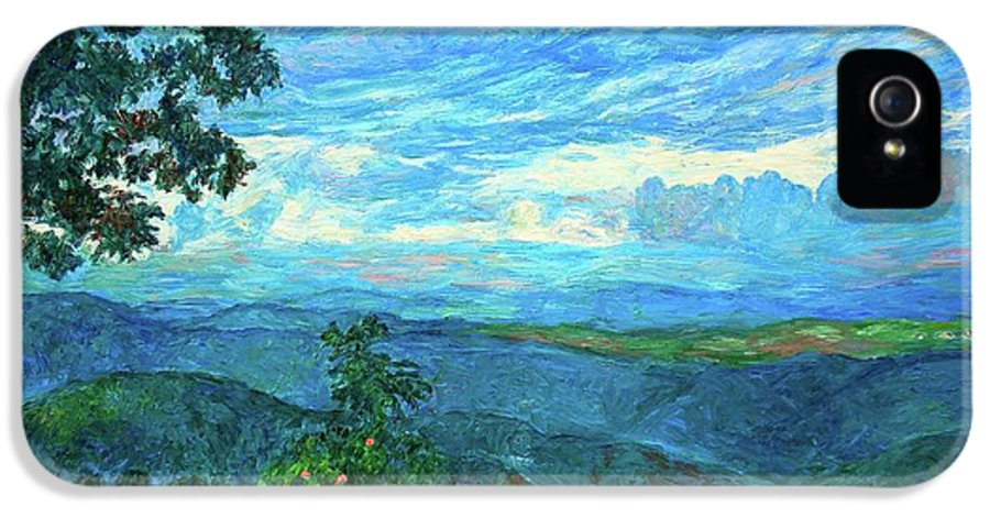 Mountains IPhone 5 / 5s Case featuring the painting A Break In The Clouds by Kendall Kessler