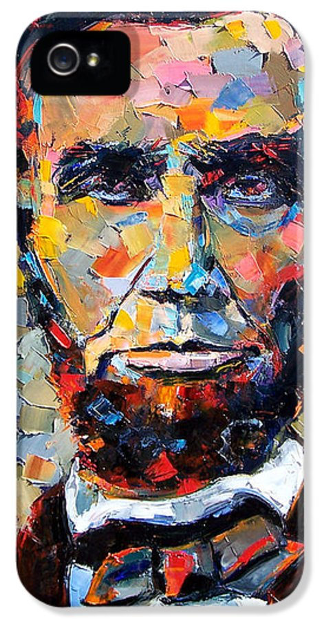 President IPhone 5 / 5s Case featuring the painting Abraham Lincoln Portrait by Debra Hurd