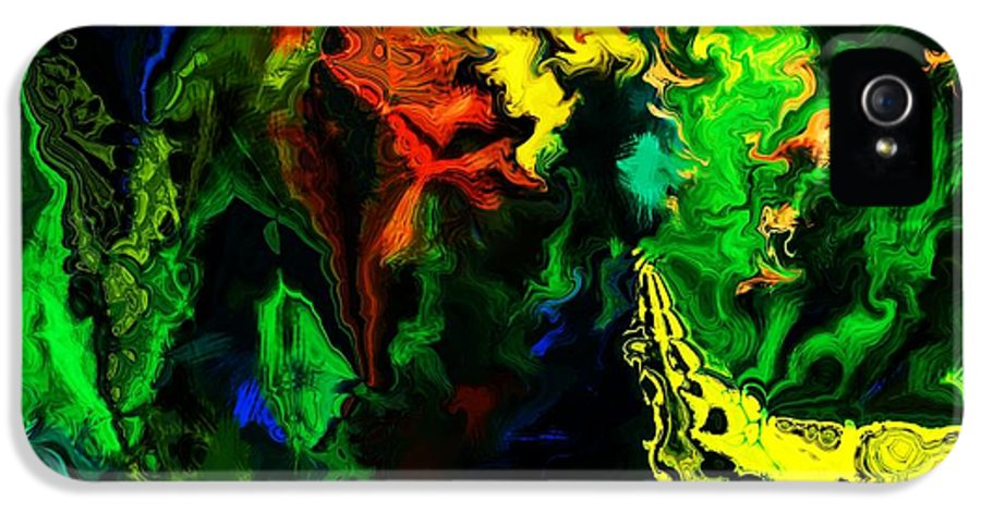 Abstract IPhone 5 / 5s Case featuring the digital art Abstract 2-23-09 by David Lane