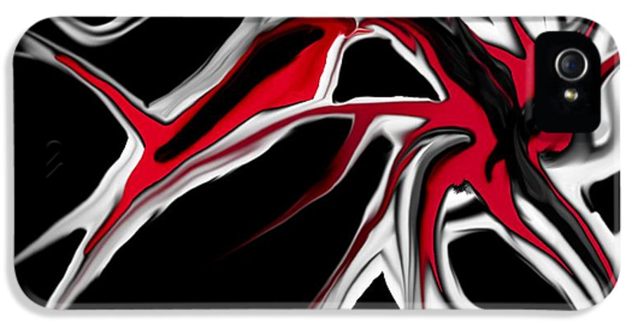 Abstract IPhone 5 / 5s Case featuring the digital art Abstract 6-14-09 by David Lane
