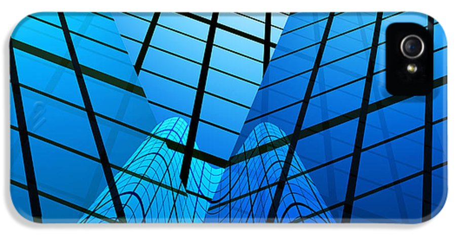 Abstract IPhone 5 / 5s Case featuring the photograph Abstract Skyscrapers by Setsiri Silapasuwanchai