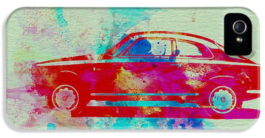 Alfa Romeo Gtv IPhone 5 / 5s Case featuring the painting Alfa Romeo Watercolor 2 by Naxart Studio