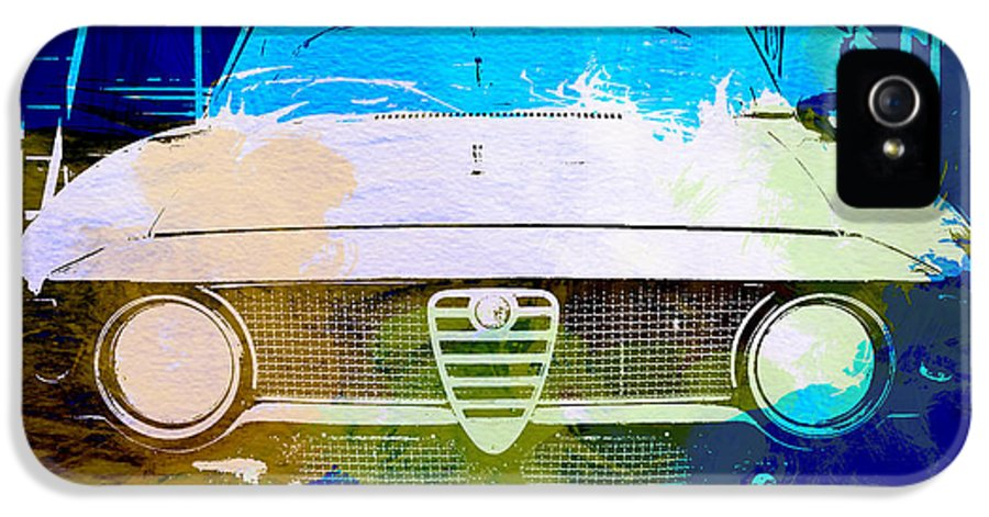 IPhone 5 / 5s Case featuring the photograph Alfa Romeo Watercolor by Naxart Studio