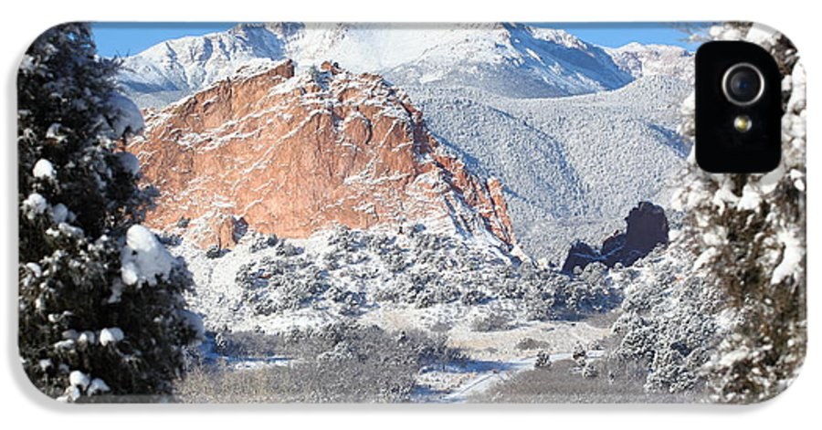 West IPhone 5 / 5s Case featuring the photograph America's Mountain by Eric Glaser