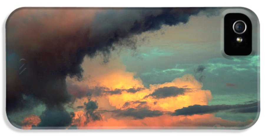 Cloudscapes IPhone 5 / 5s Case featuring the photograph And The Thunder Rolls by Karen Wiles