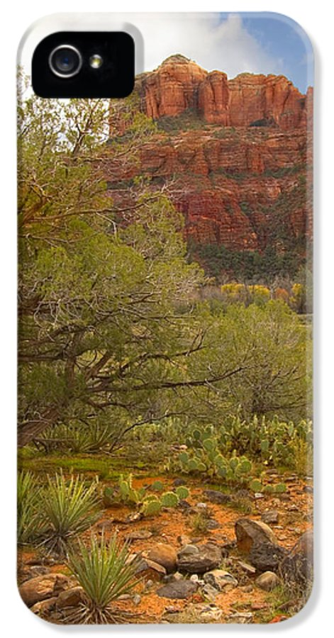 Sedona IPhone 5 / 5s Case featuring the photograph Arizona Outback 3 by Mike McGlothlen