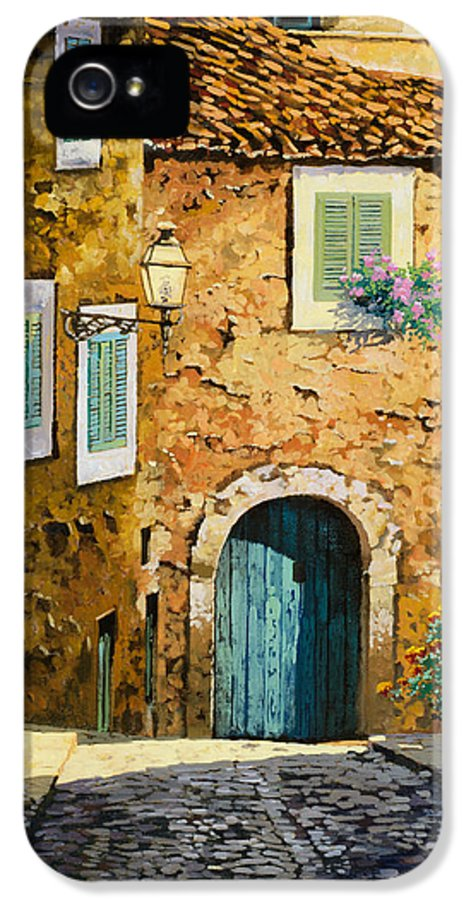 Landscape IPhone 5 / 5s Case featuring the painting Arta-mallorca by Guido Borelli