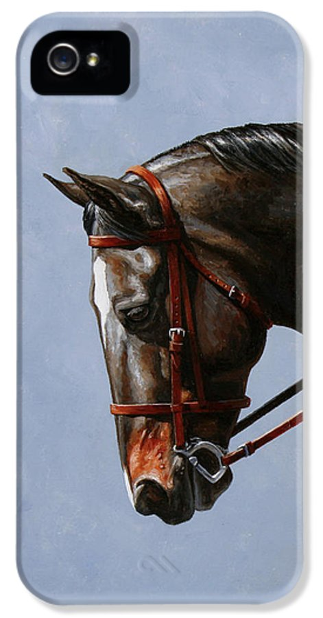 Horse IPhone 5 / 5s Case featuring the painting Horse Painting - Discipline by Crista Forest