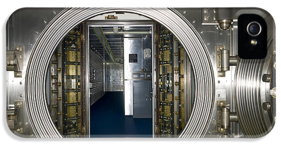 Architectural IPhone 5 / 5s Case featuring the photograph Bank Vault Interior by Adam Crowley
