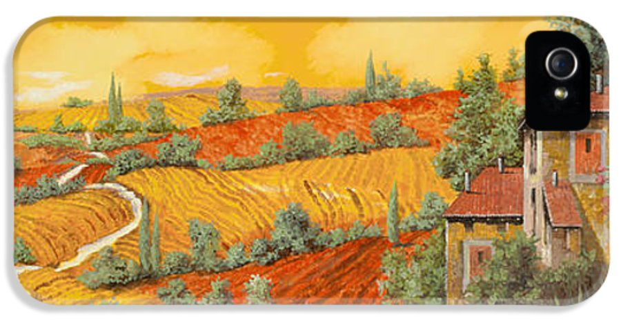 Tuscany IPhone 5 / 5s Case featuring the painting Bassa Toscana by Guido Borelli