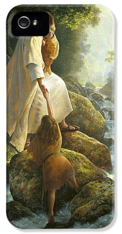 Jesus IPhone 5 / 5s Case featuring the painting Be Not Afraid by Greg Olsen