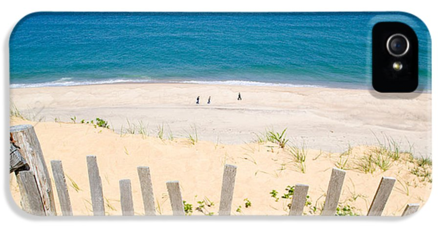 Beach Fence IPhone 5 / 5s Case featuring the photograph beach fence and ocean Cape Cod by Matt Suess