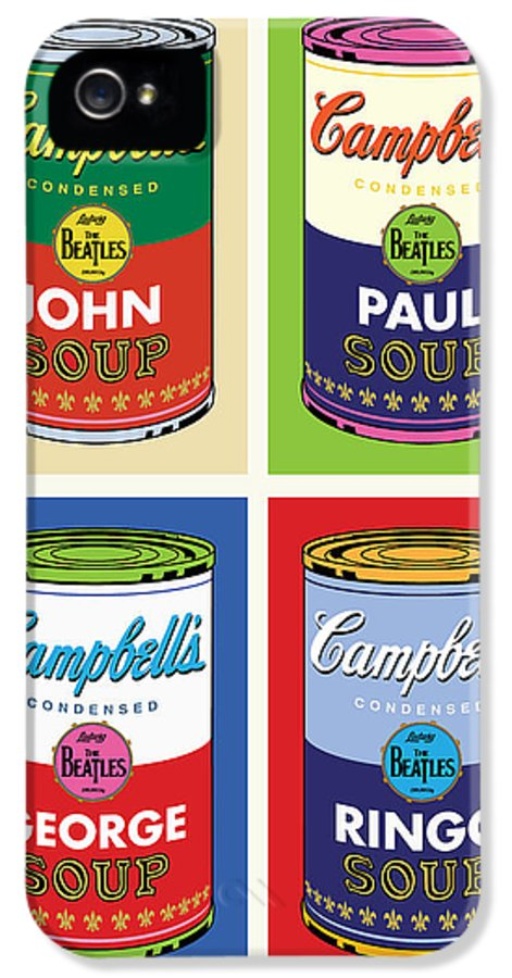 Pop Art IPhone 5 / 5s Case featuring the digital art Beatles Soup by Gary Grayson