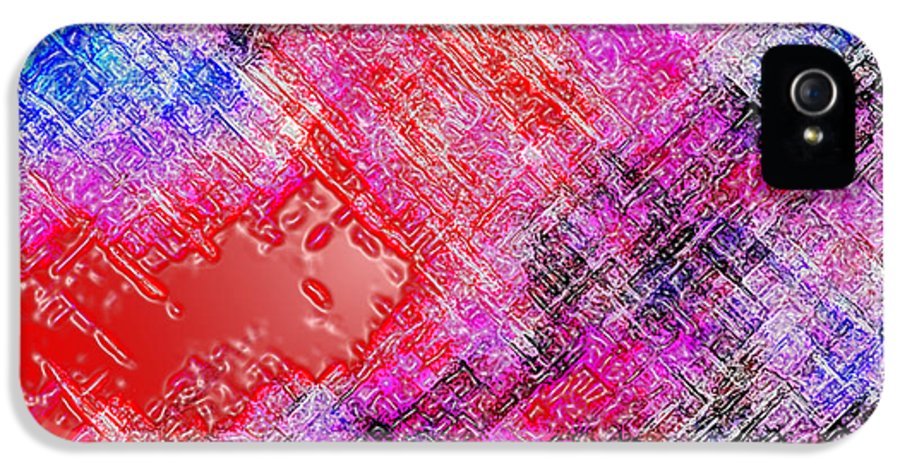 Abstract IPhone 5 / 5s Case featuring the digital art Bleeding Soul by Cristophers Dream Artistry