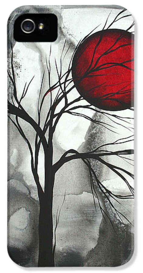 Huge IPhone 5 / 5s Case featuring the painting Blood Of The Moon 2 By Madart by Megan Duncanson