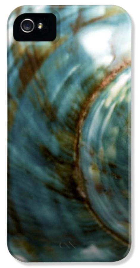 Macro IPhone 5 / 5s Case featuring the photograph Blue Seashell by Fabrizio Troiani