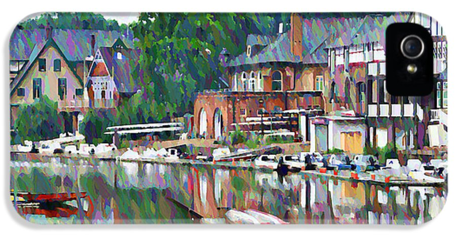 Boathouse IPhone 5 / 5s Case featuring the photograph Boathouse Row In Philadelphia by Bill Cannon