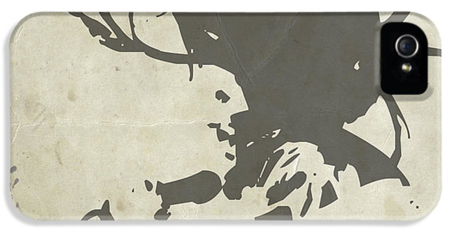 Bob Marley IPhone 5 / 5s Case featuring the painting Bob Marley Grey by Naxart Studio