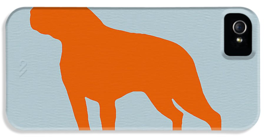 Boston Terrier IPhone 5 / 5s Case featuring the digital art Boston Terrier Orange by Naxart Studio