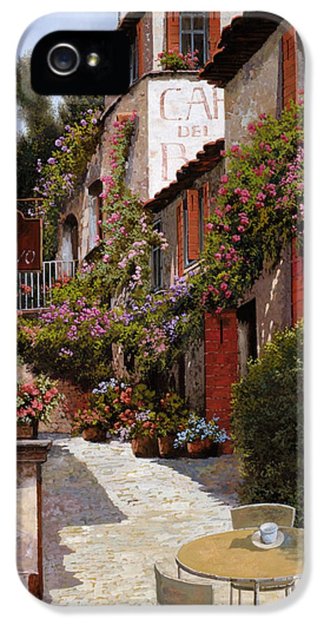 Cafe IPhone 5 / 5s Case featuring the painting Cafe Bifo by Guido Borelli