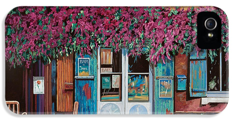 Caffe' IPhone 5 / 5s Case featuring the painting caffe del Aigare by Guido Borelli