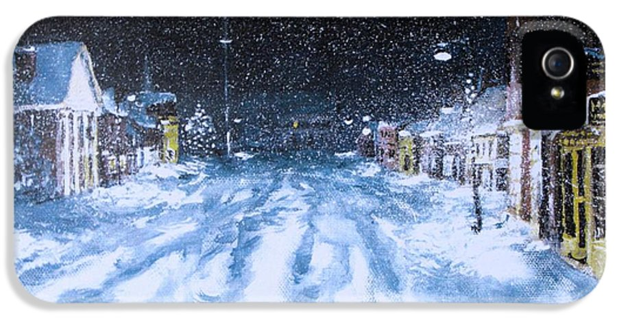 Snow IPhone 5 / 5s Case featuring the painting Call Out The Plows by Jack Skinner