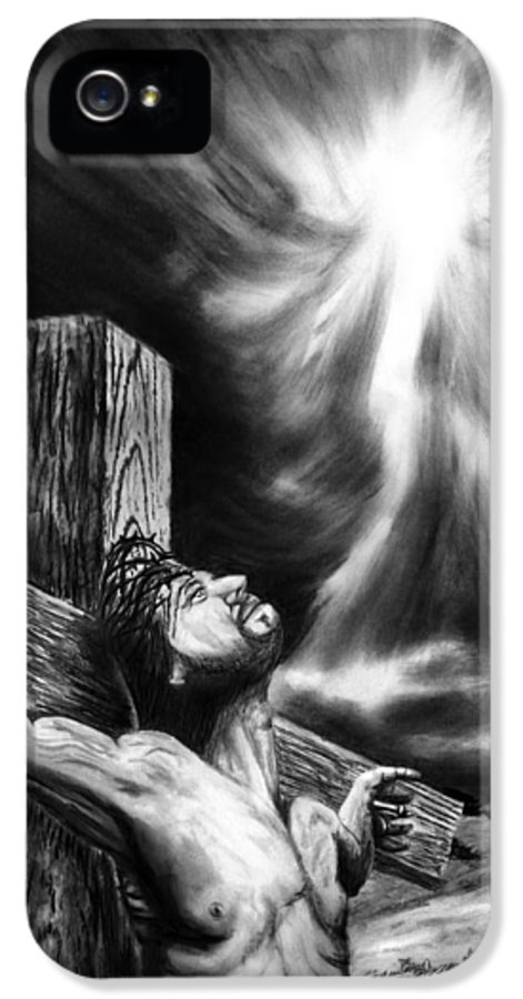 Calvary IPhone 5 / 5s Case featuring the drawing Calvary by Peter Piatt
