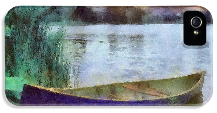 Canoe IPhone 5 / 5s Case featuring the painting Canoe by Anthony Caruso