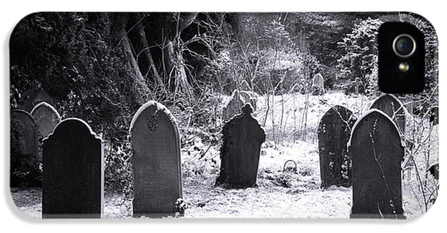 Ancient IPhone 5 / 5s Case featuring the photograph Cemetery And Snow by Jane Rix