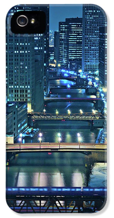 Chicago IPhone 5 / 5s Case featuring the photograph Chicago Bridges by Steve Gadomski