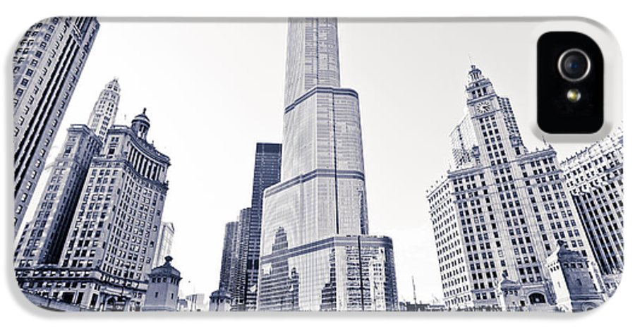 America IPhone 5 / 5s Case featuring the photograph Chicago Trump Tower And Wrigley Building by Paul Velgos