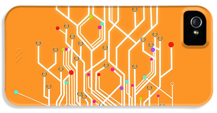 Abstract IPhone 5 / 5s Case featuring the photograph Circuit Board Graphic by Setsiri Silapasuwanchai