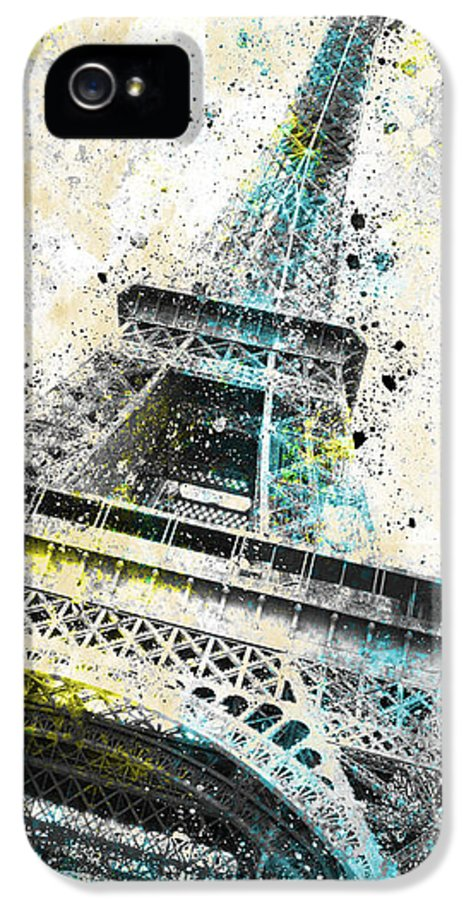 Europe IPhone 5 / 5s Case featuring the photograph City-art Paris Eiffel Tower Iv by Melanie Viola