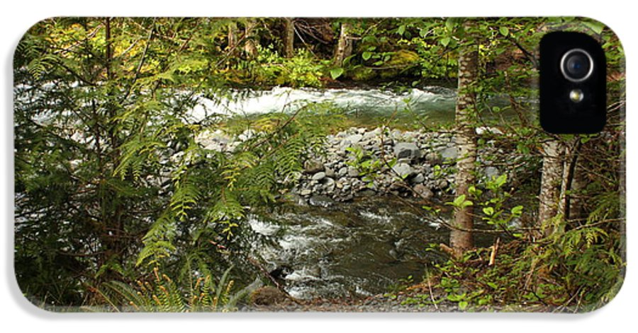 Mountain IPhone 5 / 5s Case featuring the photograph Clear Mountain Stream by Carol Groenen