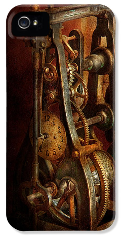 Hdr IPhone 5 / 5s Case featuring the photograph Clockmaker - Careful I Bite by Mike Savad