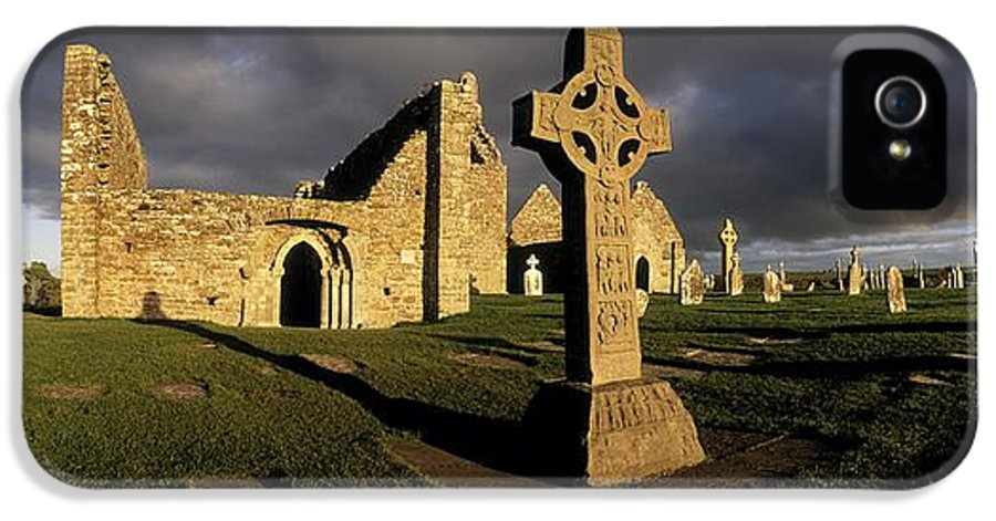 Abbey IPhone 5 / 5s Case featuring the photograph Clonmacnoise Monastery, Co Offaly by The Irish Image Collection