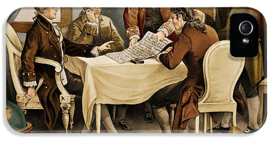 Currier And Ives IPhone 5 / 5s Case featuring the photograph Declaration Committee 1776 by Photo Researchers