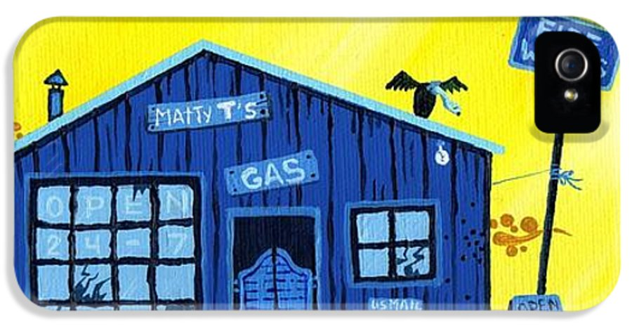 Gas Station IPhone 5 / 5s Case featuring the painting Did You See That by Dan Keough