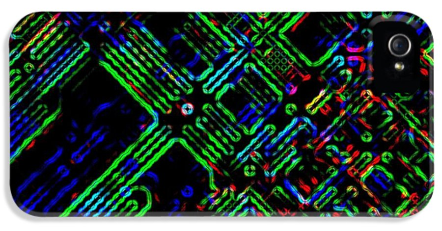Abstract IPhone 5 / 5s Case featuring the digital art Diffusion Component by Will Borden
