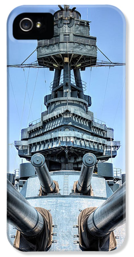 Battleship IPhone 5 / 5s Case featuring the photograph Don't Mess With Texas by JC Findley