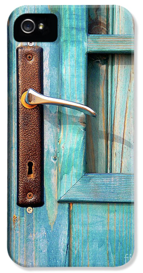 Abandonment IPhone 5 / 5s Case featuring the photograph Door Handle by Carlos Caetano