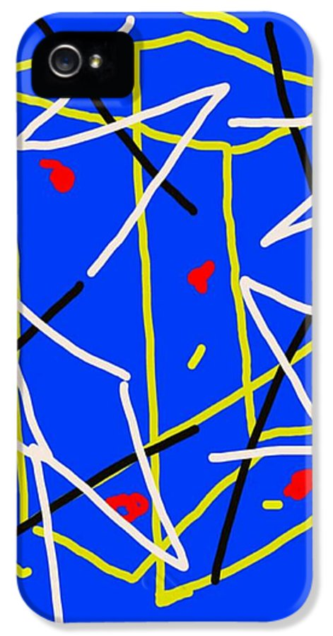 Electric IPhone 5 / 5s Case featuring the drawing Electric Midnight by Paulo Guimaraes