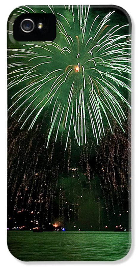 Fireworks IPhone 5 / 5s Case featuring the photograph Emerald Sky by David Patterson