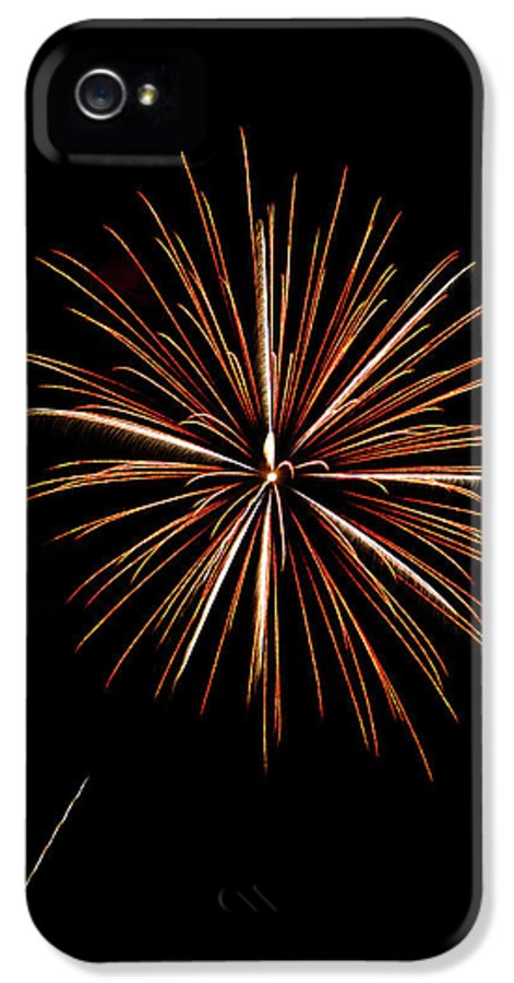 Frieworks IPhone 5 / 5s Case featuring the photograph Fire Works by Gary Langley