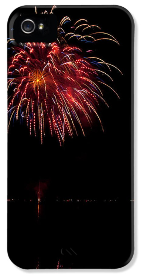 Fireworks IPhone 5 / 5s Case featuring the photograph Fireworks II by Christopher Holmes