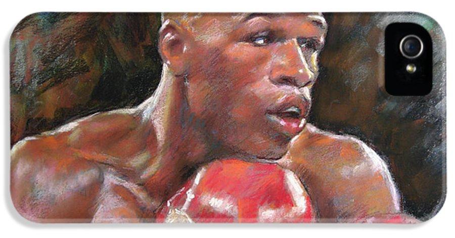 Floyd Mayweather Jr. IPhone 5 / 5s Case featuring the pastel Floyd Mayweather Jr by Ylli Haruni